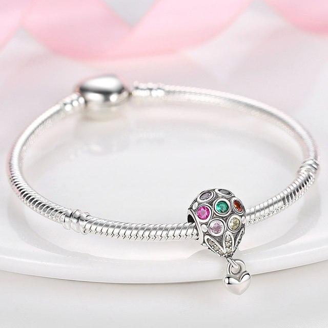 925 Sterling Silver Family Tree Star Moon Beads Heart Hamsa Fatima Hand Charm fit Original Pandora bracelet Silver 925 Jewelry 3