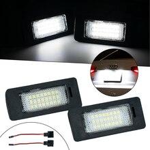 2 x Auto Lizenz Platte Licht 12V LED Anzahl Lampen Platte Licht Rücklicht Für Audi A1 A4 A5 s5 A6 S6 A7 Q5 TT Auto Teile