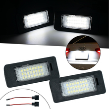 2 x Car License Plate Light 12V LED Number Lamps Plate Light Tail Light For Audi A1 A4 A5 S5 A6 S6 A7 Q5 TT Auto Parts