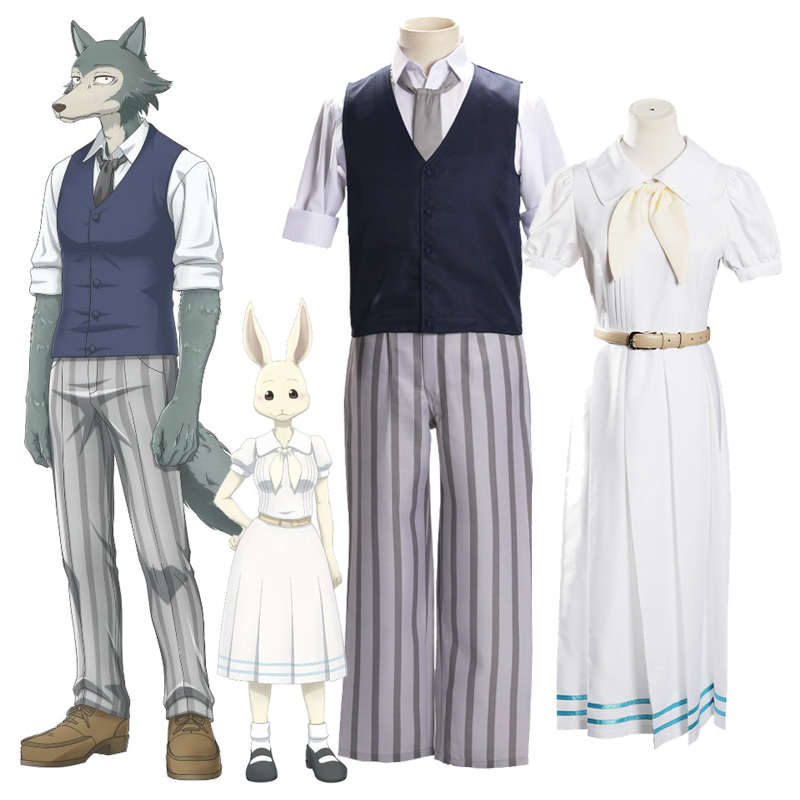 Anime BEASTARS Cosplay Costume Shirt Vest Pants Legoshi Haru School Uniform Dress Girls Boys Adult Christmas Costume