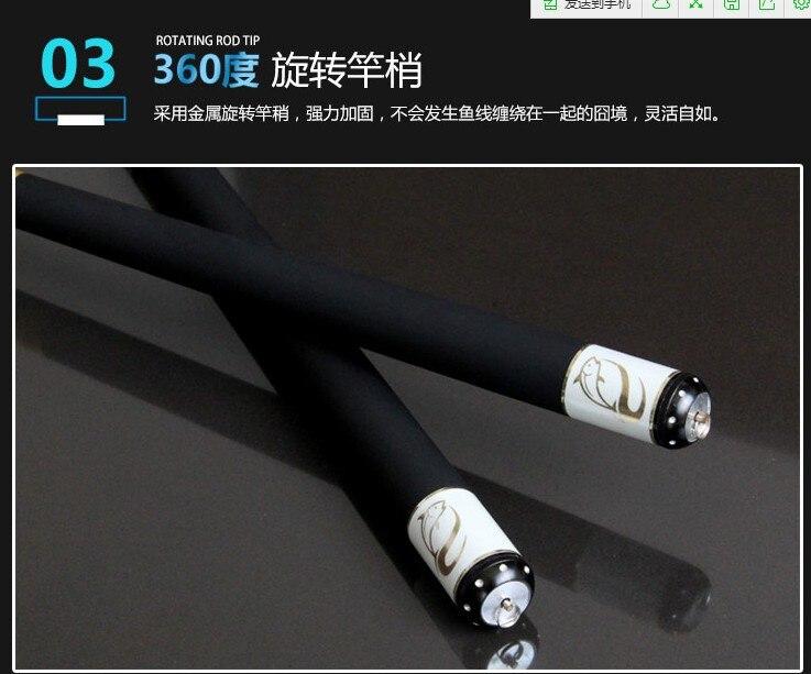 Telescópica pólo de fibra carbono 3.6 m