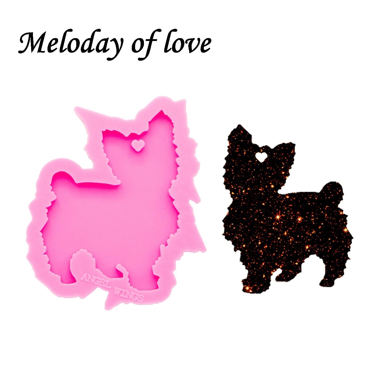 Shiny Glossy Animal Goat Silicone Mold Diy Cat Epoxy Resin Molds Jewelry Making Custom Mould Keychain DY0164