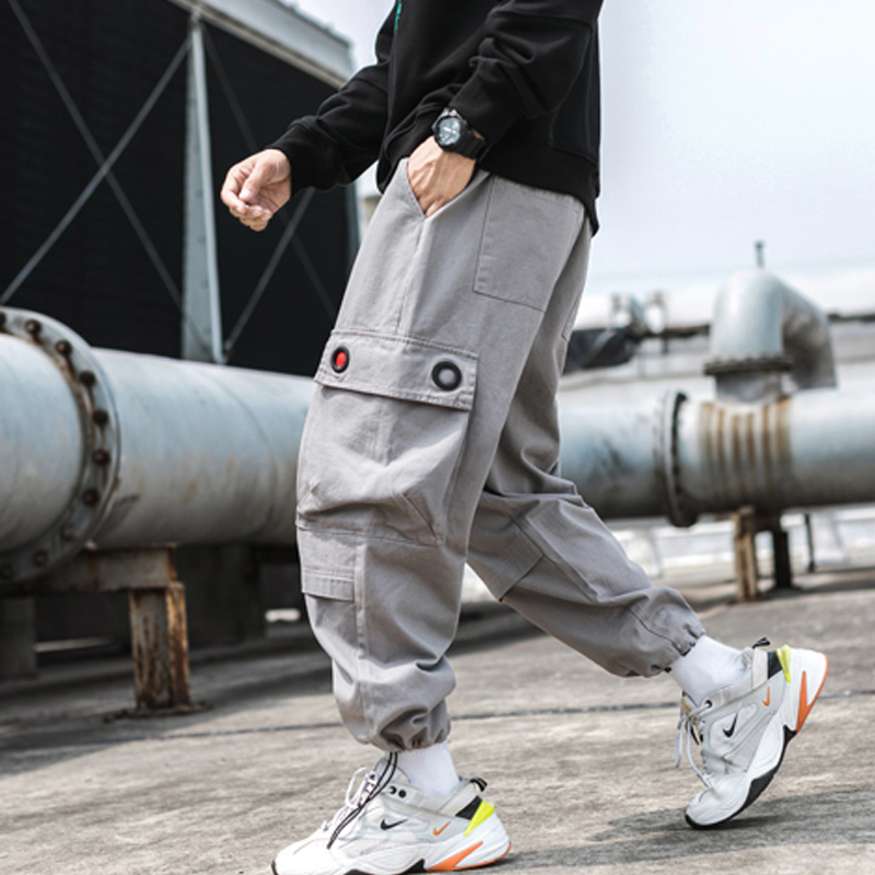 Men Hip Hop Cargo Pants 2019 Man Japanese Streetwear Joggers Pants Men Designer Harem Pants Y1985
