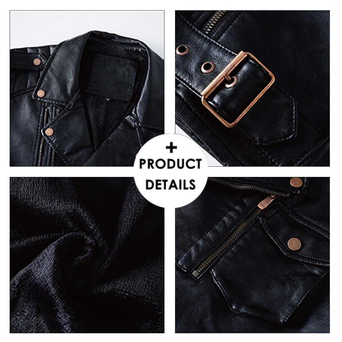 MUYOGRT мужская верхняя одежда, искусственная кожа, куртки 2020, Осень-зима, новая мужская повседневная классическая Теплая Флисовая кожаная куртка, пальто