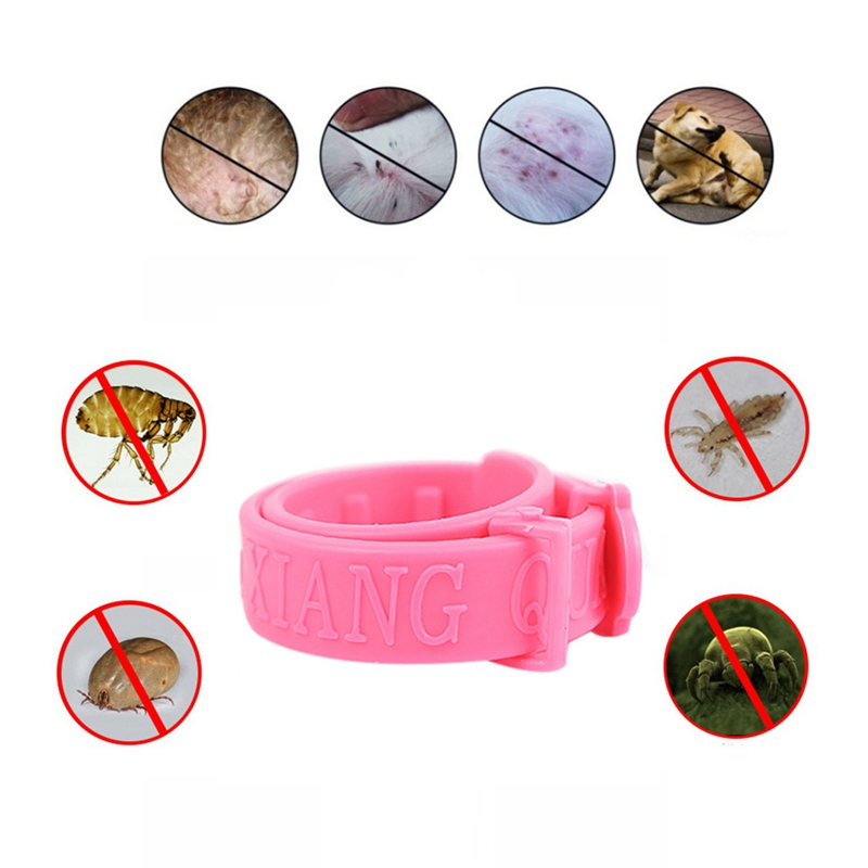 Pets Flea Collars Hypoallergenic Adjustable Collar For Dogs Puppy And Cats No Flea Grooming Tool image