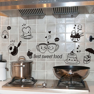 1 PCS Kitchen Wall Stickers Coffee Sweet Food DIY Wall Art Decal Decoration Oven Dining Hall Wallpapers PVC Wall Decals/Adhesive(China)