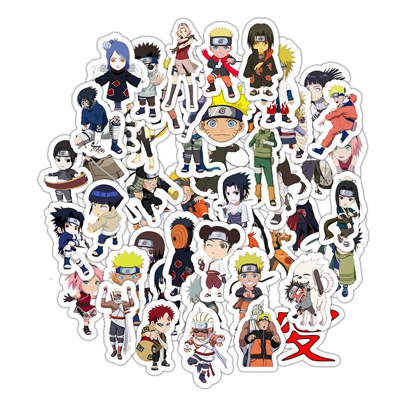50Pcs/lot Sticker Japan Anime Naruto stickers Cartoon for Snowboard Laptop Luggage Fridge Car- Styling Vinyl Decal Stickers
