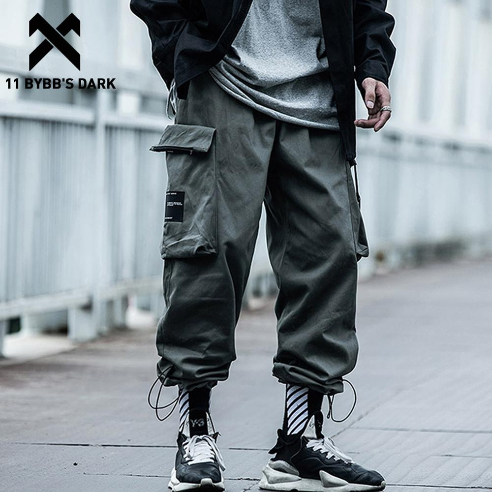 11 BYBB'S DARK Big Pockets Male Harem Cargo Pants Harajuku Streetwear Sweatpants Hip Hop Casual Joggers Men Trousers Oversized
