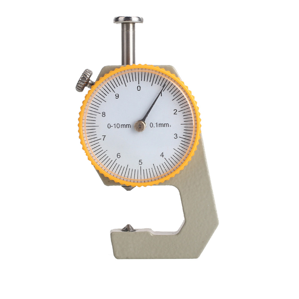 Sturdy Tester Metal Leather Analysis Tool Gift Dial Thickness Meter Silver Yellow Micrometer Craft Thickness Gauge