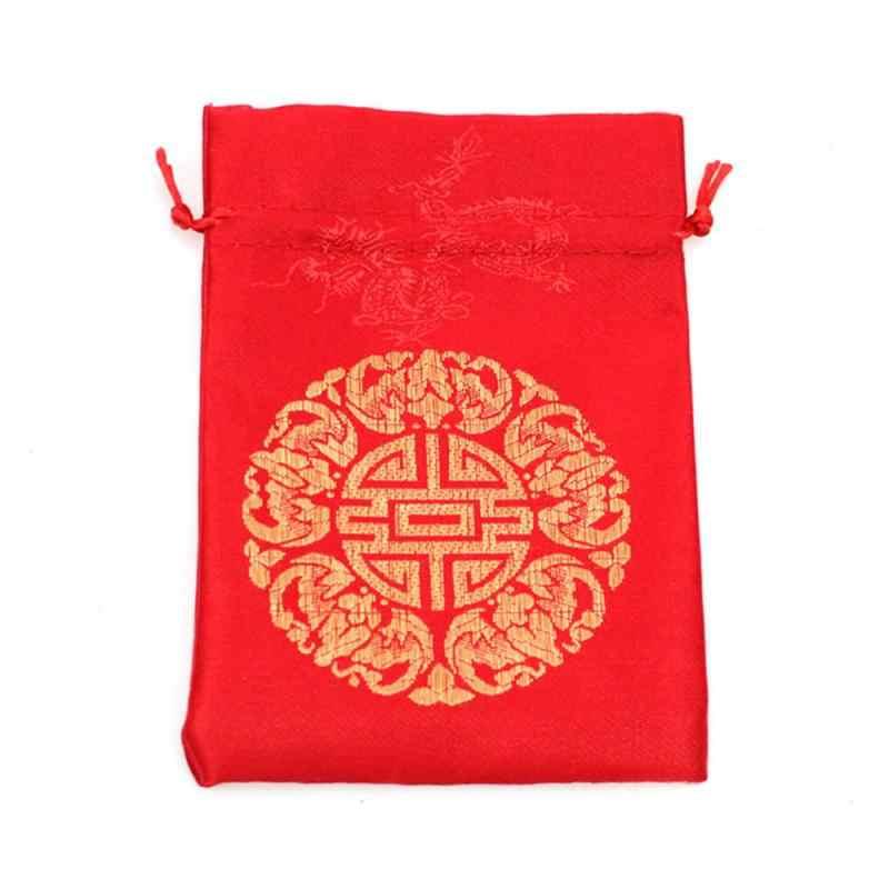 伝統新年祭福袋送料無料でサプライズギフト、ウェディングギフトバッグボックスソフトジュエリーポーチスモールギフトバッグ