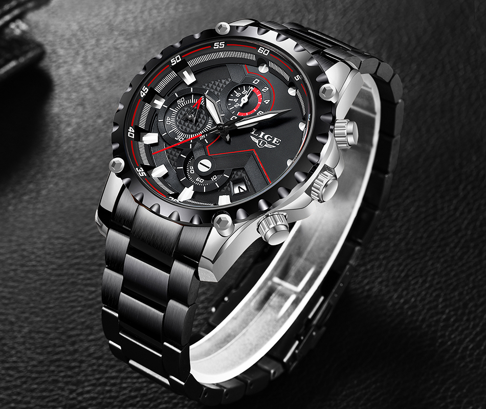 Hcef68a6db0b14fbc9f7b413295d7d438Z LIGE Top Brand Luxury Mens Fashion Watch Men Sport Waterproof Quartz Watches Men All Steel Army Military Watch Relogio Masculino