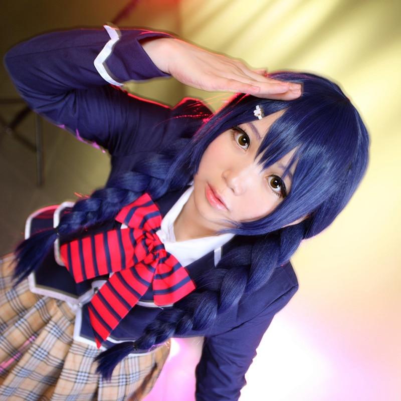 Food Wars Shokugeki No Soma Megumi Tadokoro Cosplay Wig Megumi Tadokoro  Role Play Blue Hair Wig Costumes