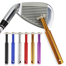 1 PCS Golf  Sharpener With 6 Heads Cleaner Re-Grooving Cleaning Tool