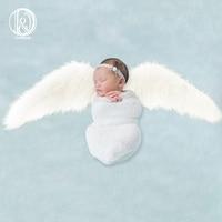 D&J 2019 New Angel Wings Blanket Photography Props Faux Fur Stuffer Blanket Background Baby Photo Soft Blanket Newborn Studio