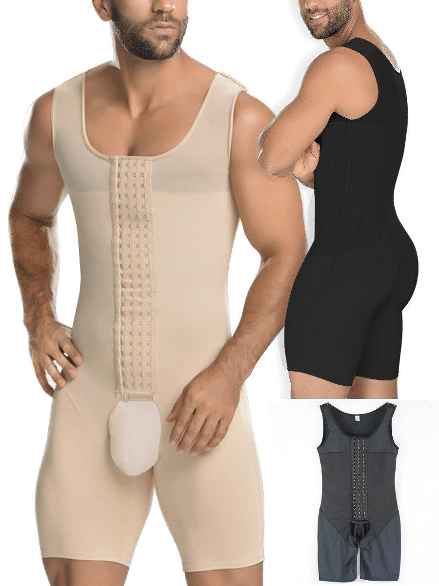 Men Shaper Slimming Corset Butt Lift Bodysuits One-piece Waist Trainer Sauna Abdomen Underwear