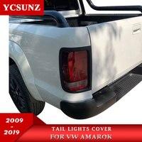 Tail Lights Surrounds Trim For Vw Amarok 2009 2010 2011 2012 2013 2014 2015 2016 2017 2018 2019 Carbon Fiber Color