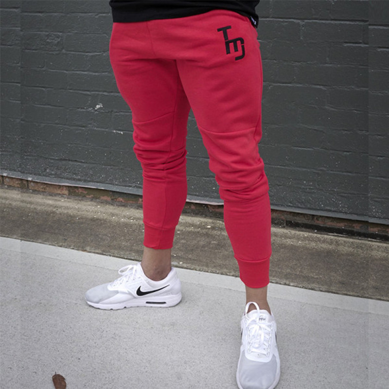 Muscle Boy Fitness Brothers Casual Trousers Outdoor Slim Fit Closing Foot Sweatpants Pure Cotton Running Gymnastic Pants Men's