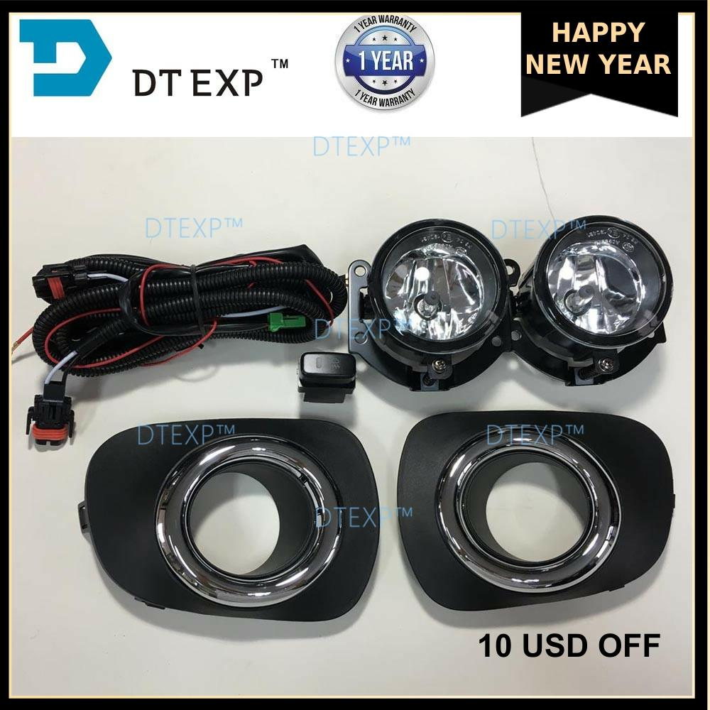 Fog Lamp Set FOR PAJERO SPORT Front Light FOR MONTERO SPORT With Bulb Kit Wire Switch 6400b641 6400b6412 6400c179 6400c180