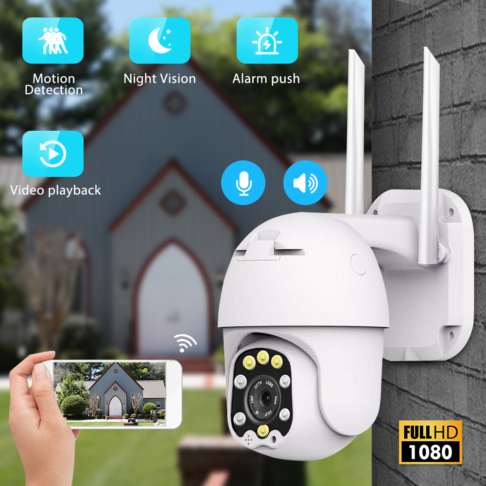 1080P PTZ IP Camera Wifi Outdoor Dome Wireless Security Camera Pan Tilt 4X Digital Zoom 2MP Network CCTV Surveillance Camera
