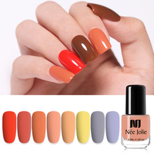 NEE JOLIE Nail Polish 3.5ml Green Red Solid Color Fast Dry Art Varnish Design Nails Lacquer 41 Colors