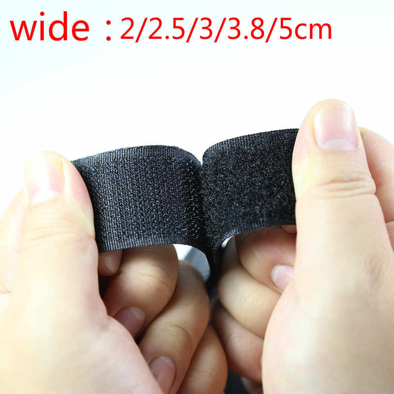 5 Metersblack En Wit Velcro Haak Sluiting Tape Nylon Sticker Velcro20/25/30/40/50 Mm