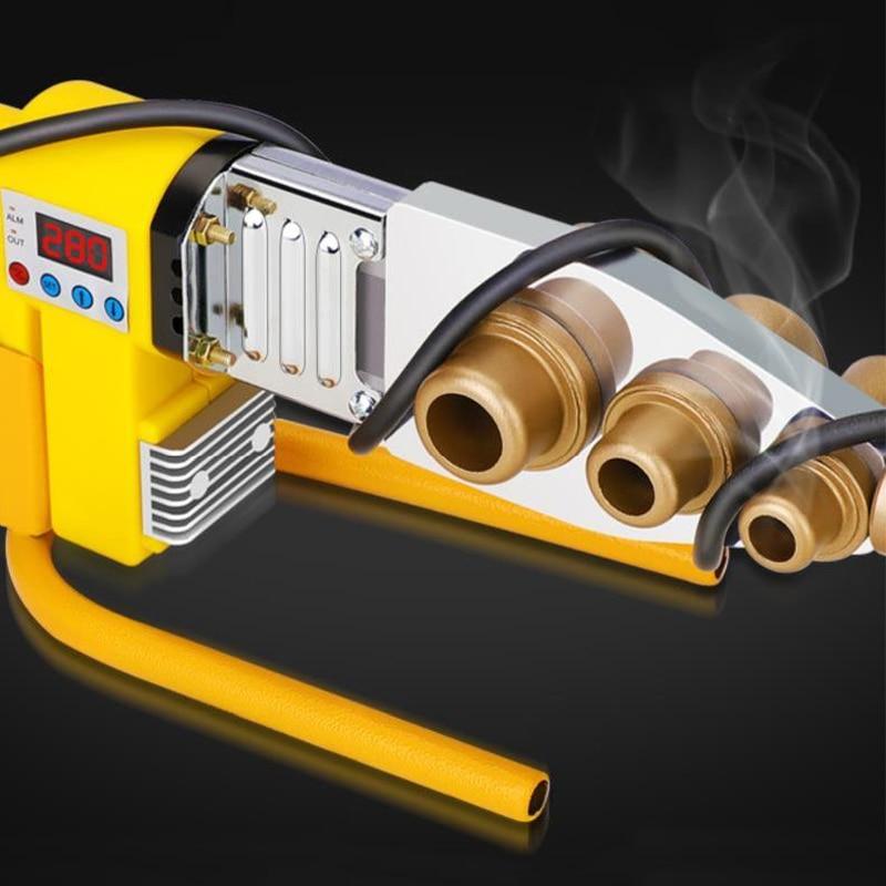 Pipe Water Water Pipe Plastic Welding RPV Digital Welder Plumber 800W Heating 63mm Machine Display  20   PPR Welder 1Set  Butt