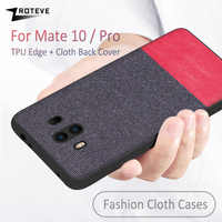 Case For Huawei Mate 10 Case Soft TPU Edge Canvas Back Cover Fashion Fabric Colths Cover For Huawei Mate10 Mate 10 Pro Cases New