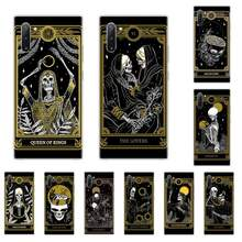 Skull Horror painting artistic Soft Phone Case For Samsung galaxy J3 J5 J6 J7 2017 2016 2018 Prime Pro Note 8 9 10 Plus(China)