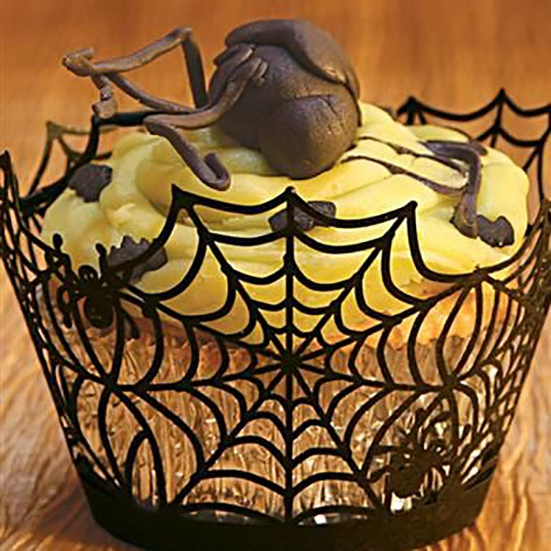 Image 4 - WEIGAO Halloween Party Cake Toppers Bat Cupcake Wrappers Kids Happy Halloween Party Cake Topper Event Party Decor Supplies-in Party DIY Decorations from Home & Garden