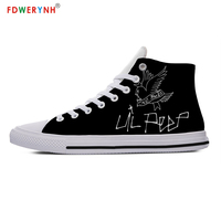 FDWERYNH lil peep printed funny Fashion Men's Casual Shoes Lace up Men Shoes Lightweight Comfortable Breathable Walking Shoes
