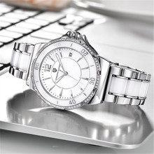 Relogio Feminino PAGANI DESIGN women watches luxury ladies Fashion watch women white ceramics quartz clock Montre Femme 2020 white ceramics band design mens leisure watch