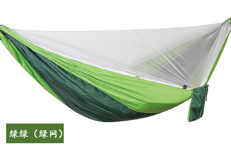 Hammock tent chair swing outdoor patio furniture camping hammock automatic quick opening mosquito double parachute hammock - 4