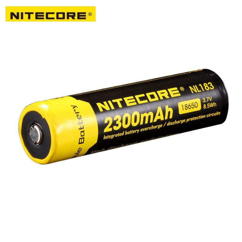 Free Shipping 1PC Nitecore 18650 NL183 2300mAH 3.7v Protected PCB Li-ion Lithium Rechargeable Battery
