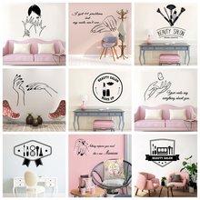 Модные виниловые наклейки на стену для салона красоты