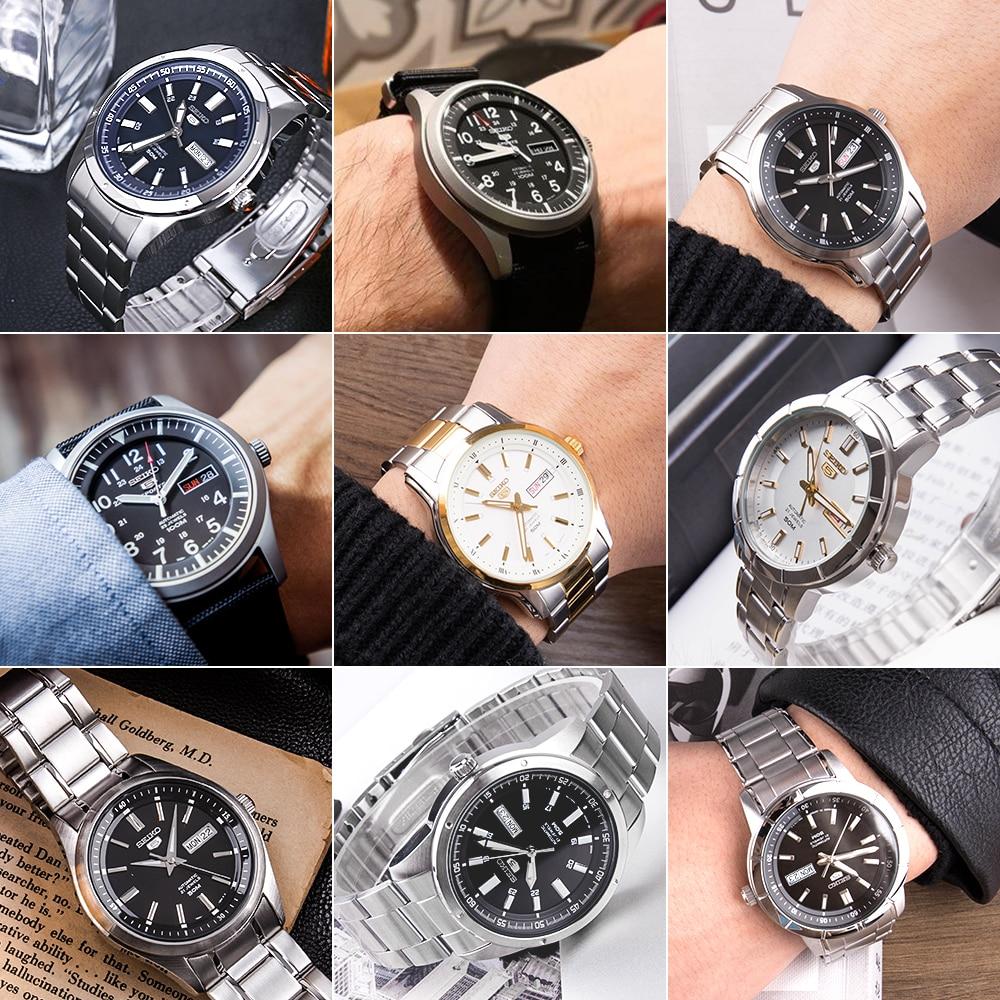 Image 5 - seiko watch men 5 automatic watch top Luxury Brand Sport men watch set men watch waterproof watch relogio masculino SNZG15J1-in Sports Watches from Watches