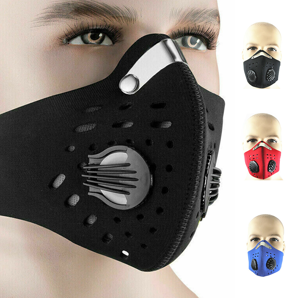 Sports Riding Mask Filters Outdoor Activated Carbon Face Cover Breathable Masks