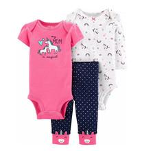 Wyprzedaż wyprzedaż letnia wiosna odzież dziecięca bawełniane body + spodnie 3 szt Zestawy dla niemowląt bawełniane ubranka dla niemowląt niemowlę roupas tanie tanio OrangeMom COTTON W wieku 0-6m 7-12m 13-24m CN (pochodzenie) Kobiet Europejskich i amerykańskich style O-neck Swetry Pełna
