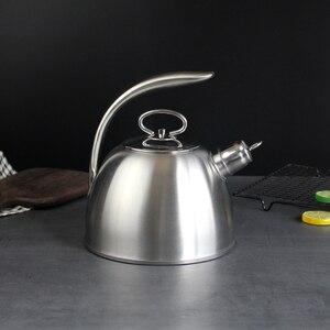 Image 1 - 3L Stahl Wasser Kochen Wasserkocher 304 Pfeife Wird Kapazität Kochendem Wasser Wasserkocher Haushalt Flachen Boden Kohle Gas Elektromagnetische Ofen