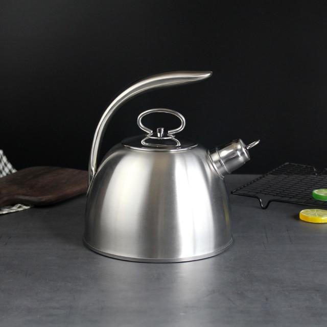 3L Stahl Wasser Kochen Wasserkocher 304 Pfeife Wird Kapazität Kochendem Wasser Wasserkocher Haushalt Flachen Boden Kohle Gas Elektromagnetische Ofen