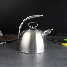 3L stali nierdzewnej zagotować wodę czajnik 304 gwizdek będzie pojemność wrzącej wody czajnik gospodarstwa domowego płaskie dno gaz węglowy piec elektromagnetyczny