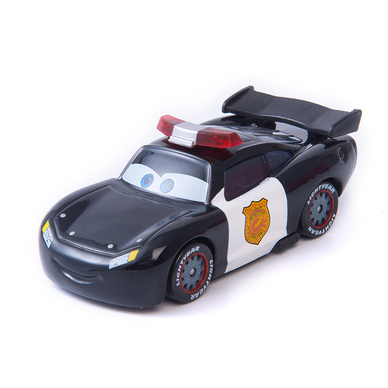 Car Diney Pixar Car  3 Role Police Lightning McQueen Jackon Torm Cruz Mater 1:55 Diecat Metal Alloy Model Car Toy Kid