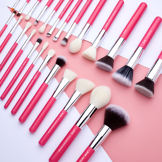 Jessup Rose-carmin/Silver Makeup brushes set Beauty Foundation Powder Eyeshadow Make up Brush 6pcs-25pcs Natural-synthetic hair 5