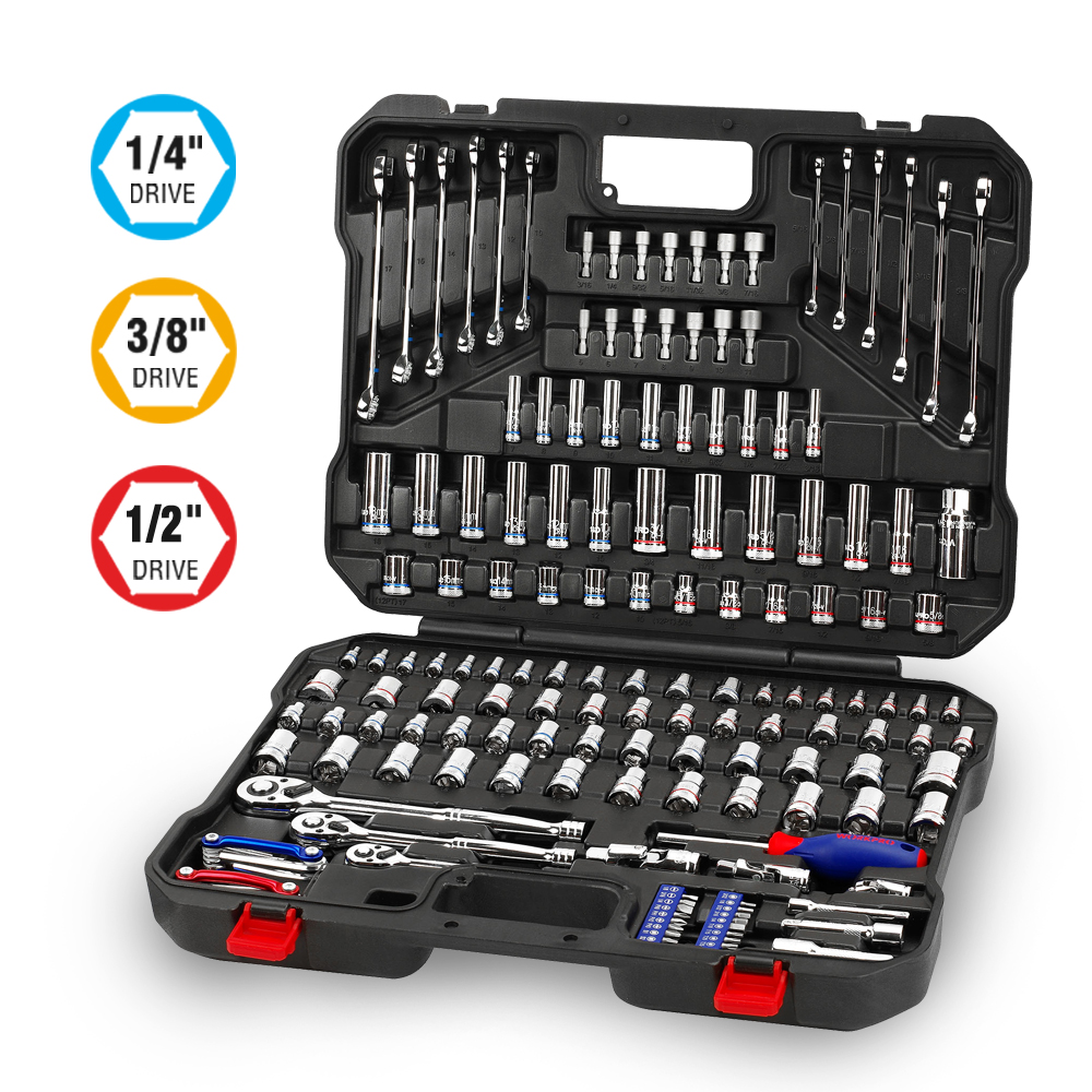 WORKPRO 164PC Tool Set for Car Repair Tools Mechanic Tool Socket Set - Ensembles d'outils - Photo 2
