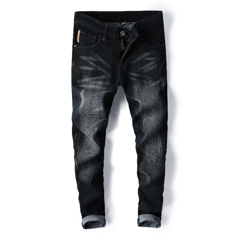 Jeans Men's Slim Fit Spring New Style Men Casual Elasticity Slimming Skinny Pants Korean-style Trend Trousers