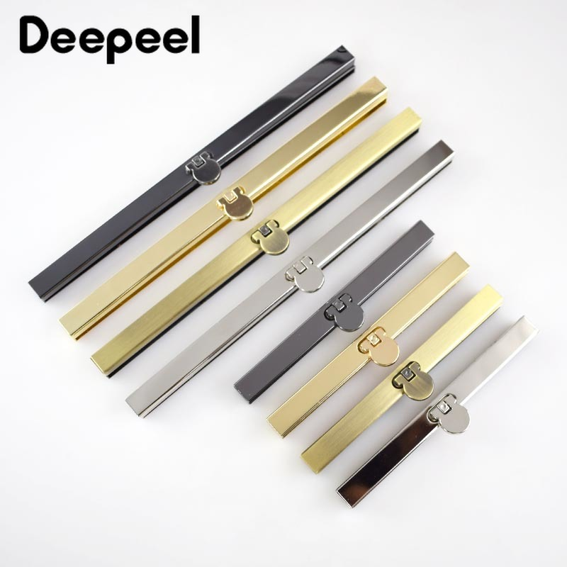 Deepeel 5pcs 11.5/19mm Metal Wallet Kisss Clasp Handbag Lock Clutch Metal Handles DIY Sewing Hardware Accessories Parts F1-74