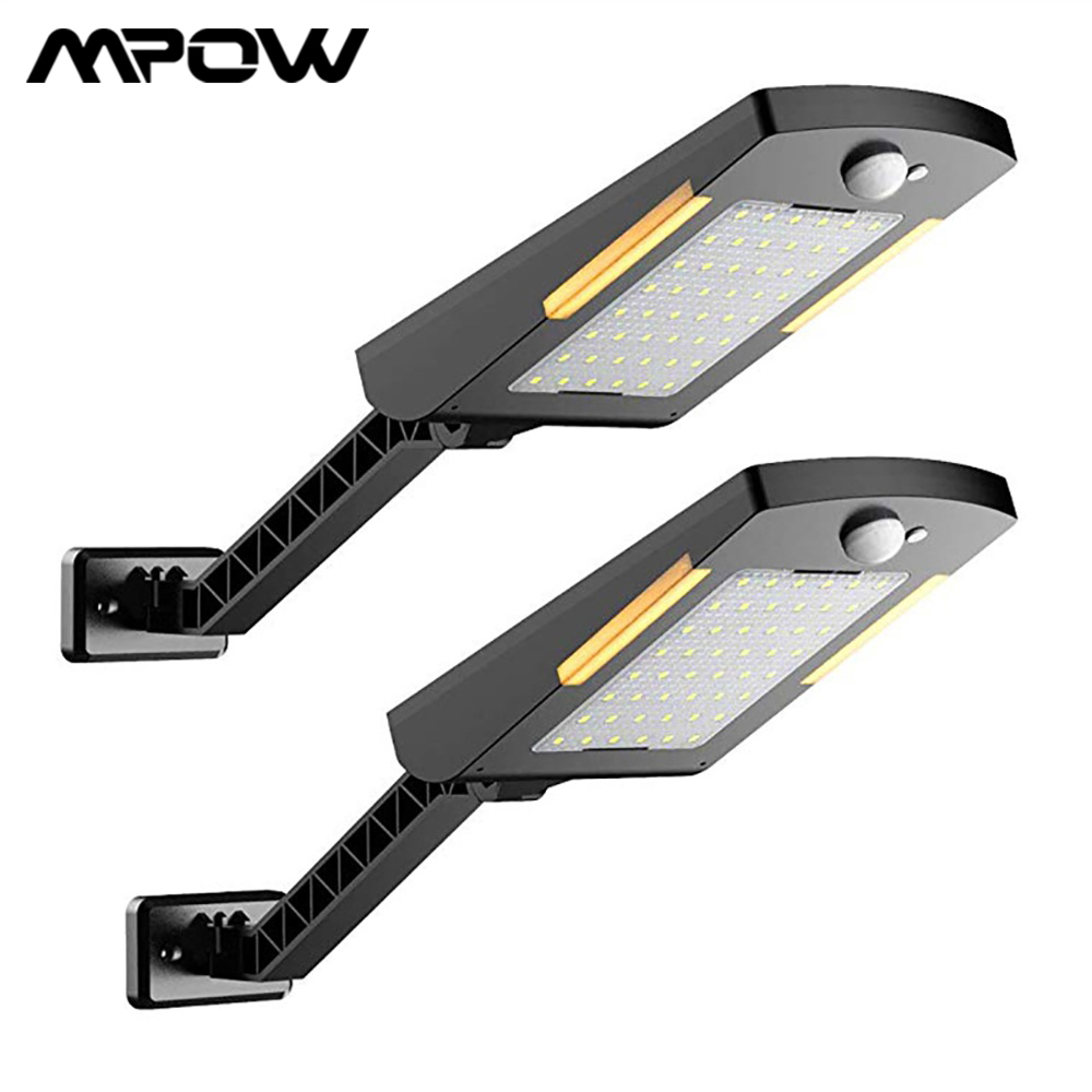 Wireless Solar Lights Garden Wall Lamp Adjustable Security Lighting For Mpow IP65 Waterproof 48 LEDs Motion Sensor Solar Light
