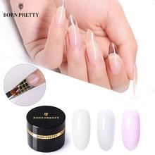 BORN PRETTY – vernis à ongles UV, Gel rose, cristal blanc, 5ml