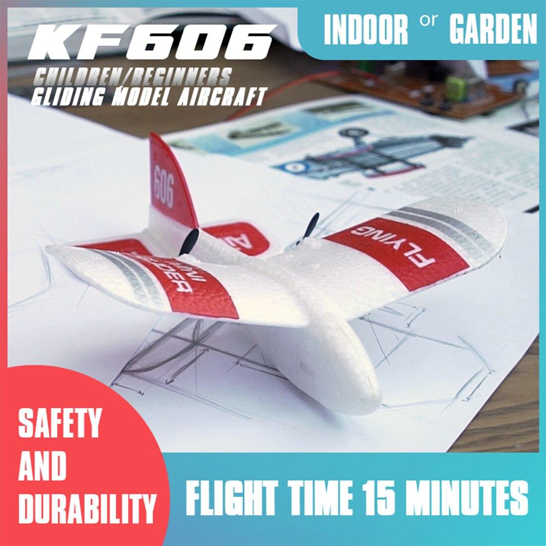 Mini avion RC à l'intérieur, jouets pour enfants, Mini avion RC, planeur en mousse EPP, 2019G, 2CH, modèle gyroscopique intégré KF606, 2.4 3