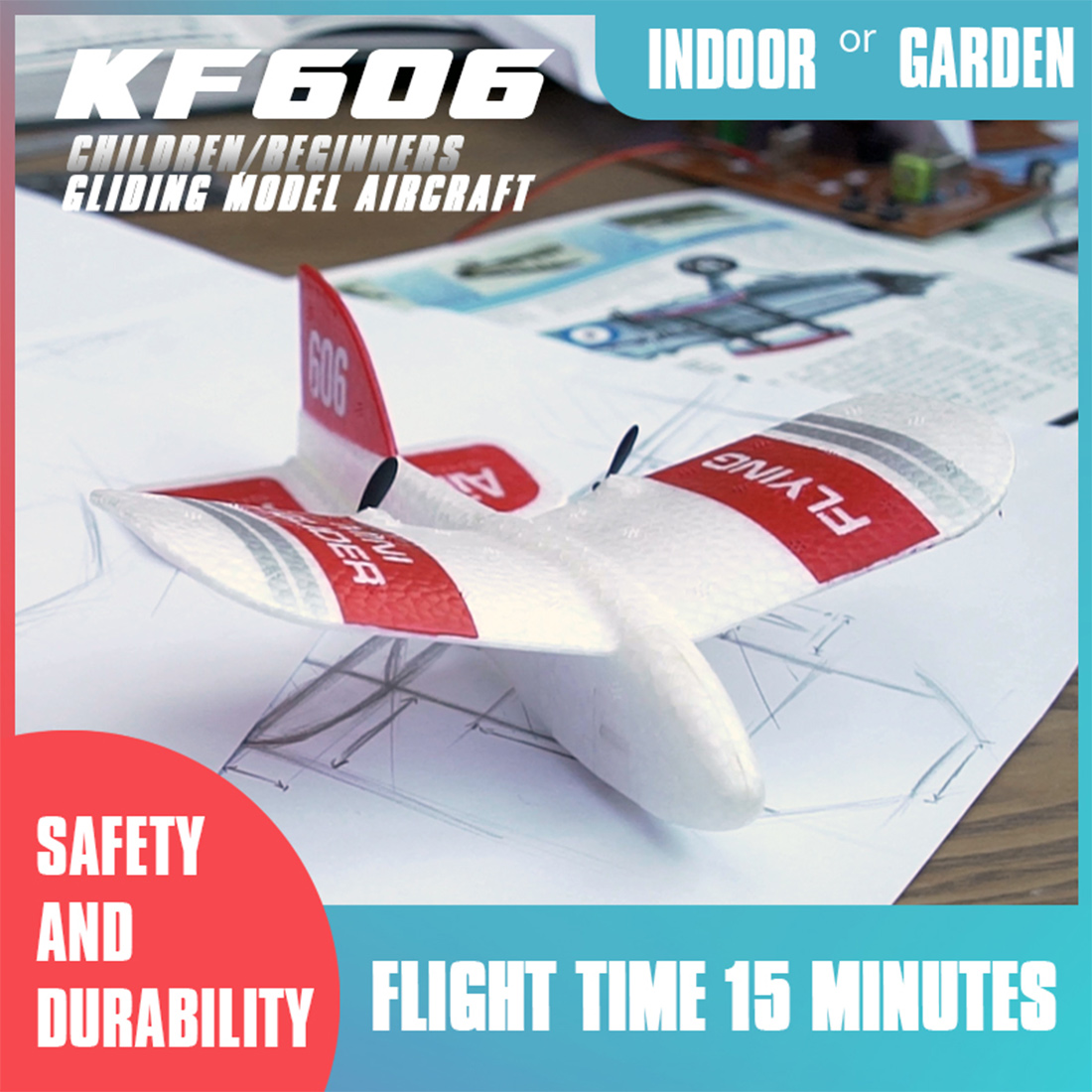 KF606 RC Airplane Flying Indoor Mini Aircraft EPP Foam Glider Flexibility 2.4G 2CH Build in Gyro RC Plane Toys Kids 2019 Gifts image