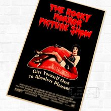 Рокки, ужасы, картина, шоу, ужасов, фильм, винтажный Ретро Крафт-постер, декоративные настенные холщовые наклейки «сделай сам», художественн...
